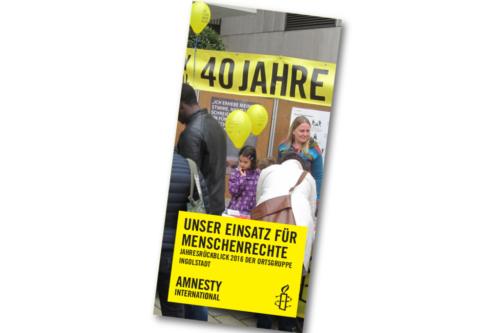 Titel Jahresbericht 2016 Amnesty Ingolstadt