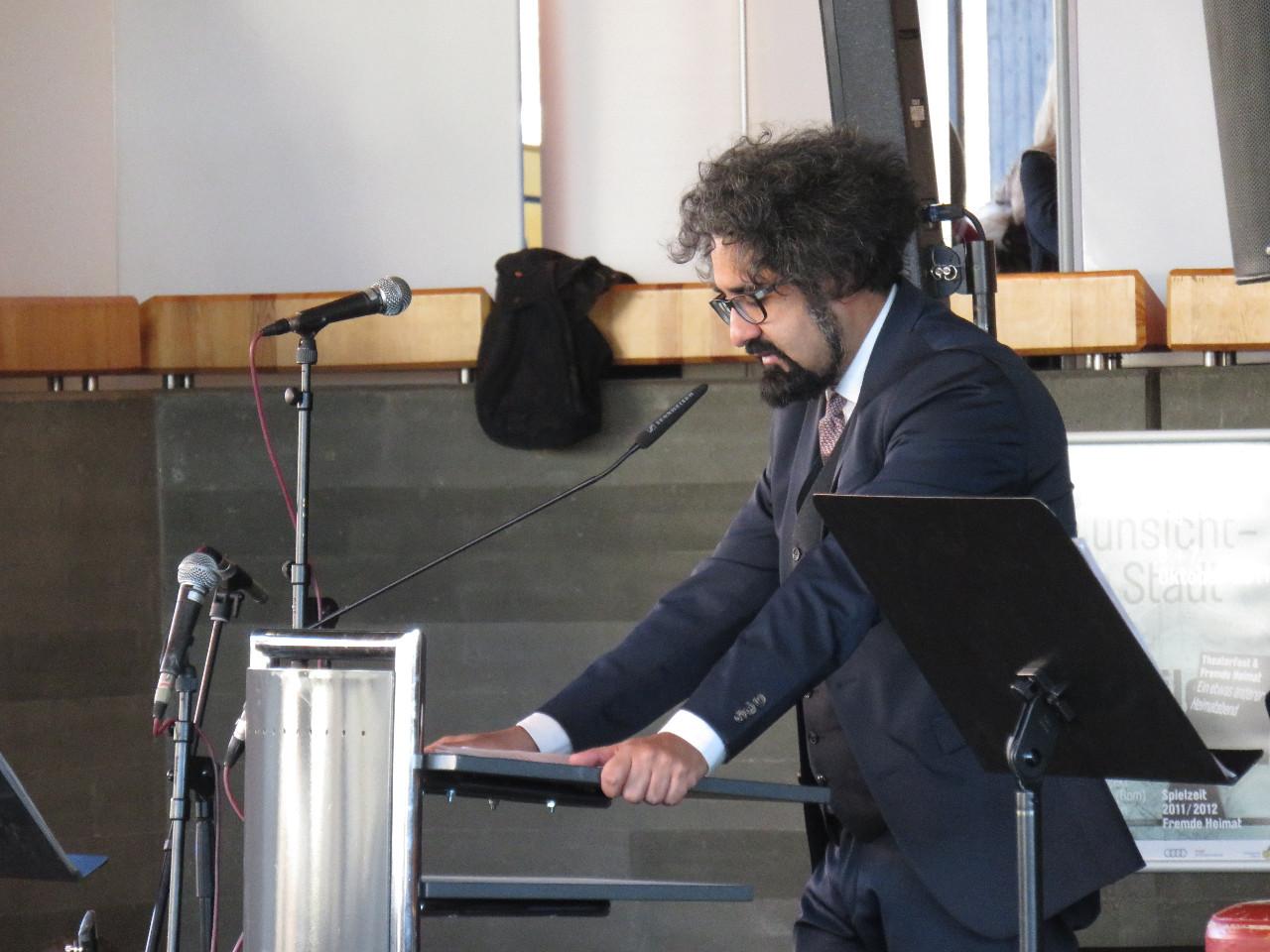Milad Karimi beim Tag der Menschenrechte 2016 in Ingolstadt