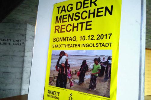Plakat zur Matinee zum Tag der Menschenrechte 2017