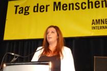 Ayfer Yildirim von der Amnesty-Gruppe Ingolstadt