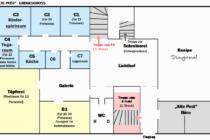 Bürgerhaus Raumplan Erdgeschoss